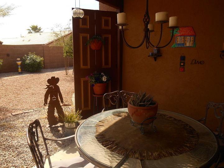 repurposed folding closet doors now shade my patio, doors, patio, repurposing upcycling