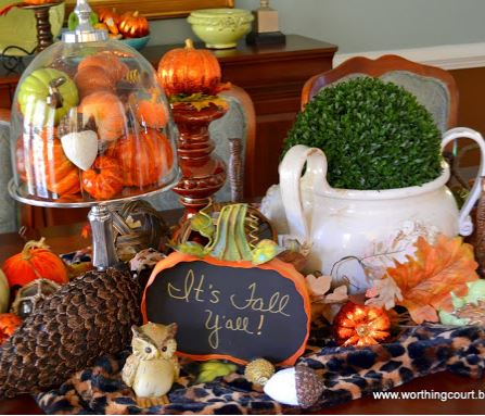 Fall dining table centerpiece