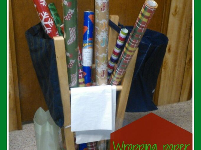 wrapping paper station, cleaning tips