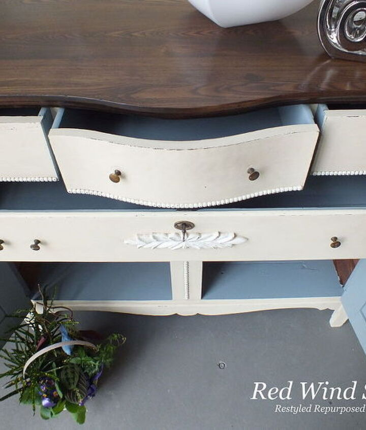 playing peek a boo, painted furniture, repurposing upcycling