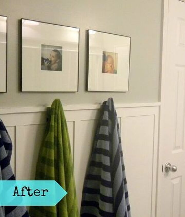 Towel hooks instead of a towel bar so much better with kids.