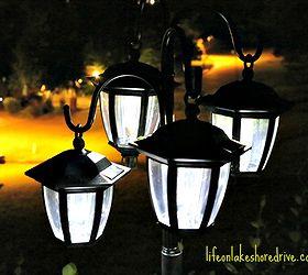 Easy Diy Solar Lights Lamp Post With Flower Planter, Go Green, Landscape,  Lighting