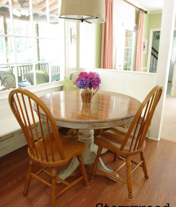 the perfect kitchen table, painted furniture