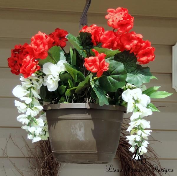 diy faux floral hanging baskets, crafts, flowers, gardening