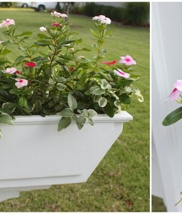 The flower box adds color & curb appeal.