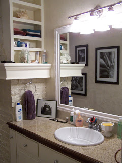 a bathroom remodel in our last house, bathroom ideas, home decor