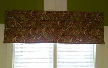 How to Make a Faux Roman Blind