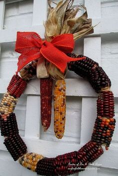 diy make a corn cob wreath, crafts, thanksgiving decorations, wreaths, Make Your Own Corn Cob Wreath a quick easy Fall project