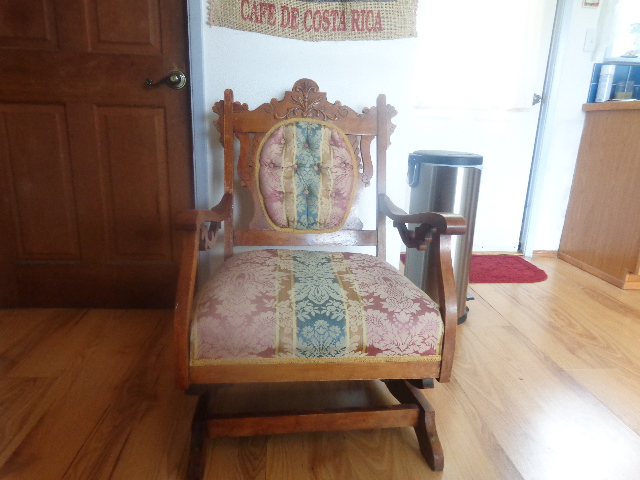 someone ditched this beautiful antique rocker, painted furniture