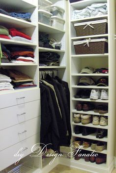 organized master bedroom closet, closet, organizing, shelving ideas