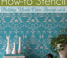 how to stamp a painted stencil pattern, painting, Putting your own stamp on it add a personal stamp to your next stencil project