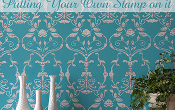 How to Stamp a Painted Stencil Pattern
