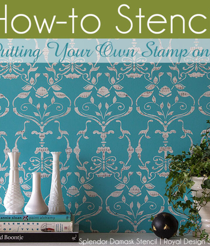 Putting your own stamp on it...add a personal 'stamp' to your next stencil project. http://www.royaldesignstudio.com/blogs/how-to-stencil/7908799-stencil-how-to-stamping-the-splendor-damask
