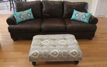 From Shabby to Chic! DIY Upholstered Ottoman Makeover :)