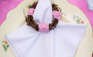 diy napkin rings for an easy spring tablescape, crafts, easter decorations, seasonal holiday decor