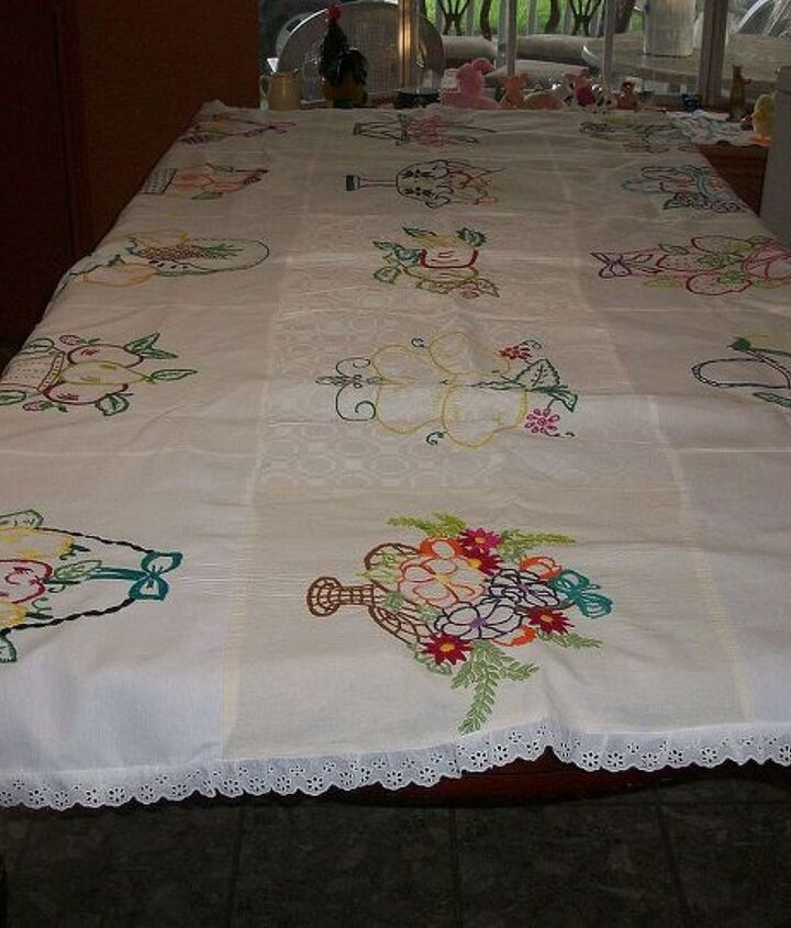 My beautiful tablecloth-many fruits baskets