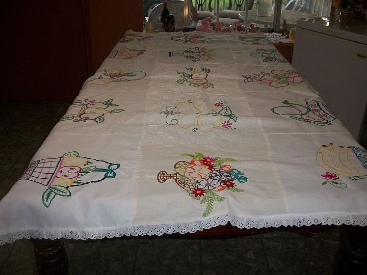 My beautiful tablecloth-many fruits baskets