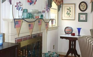 4th of july mantel with a vintage touch, patriotic decor ideas, seasonal holiday d cor, wreaths