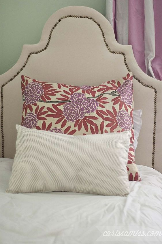 diy upholstered bed, bedroom ideas, home decor, painted furniture, reupholster