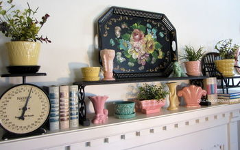 A Tole Tray Inspired Spring Mantel