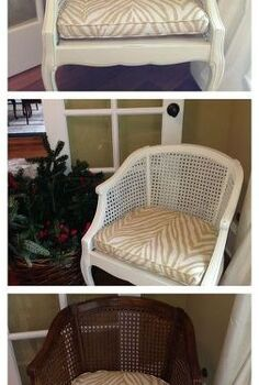 painting and glazing cane chairs, painted furniture