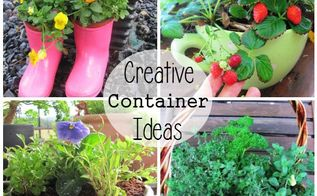 7 easy diy garden gift ideas, container gardening, flowers, gardening, Give a Micro Garden Some of my favourite homemade living gifts to make Cute boots for kids filled with edible flowers or their favourite vegie colander with ready made drainage holes a herb basket oversized strawberry cup