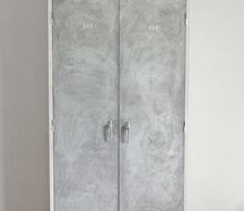 vintage inspiration, doors, home decor, kitchen cabinets, organizing, painted furniture, shelving ideas, lavender vintage locker inspired cabinet