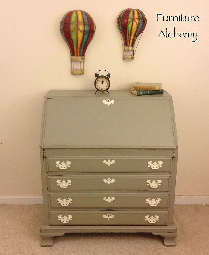 chic secretary desk makeover, chalk paint, painted furniture