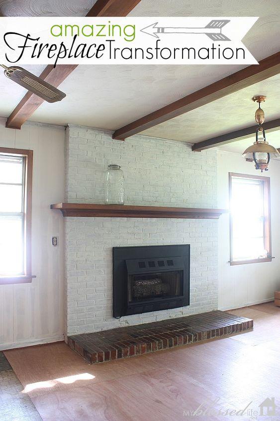 An amazing fireplace transformation!