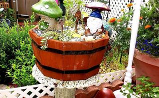 a few projects, outdoor living, repurposing upcycling, I placed it in the Garden Table so the chipmunks don t get into it