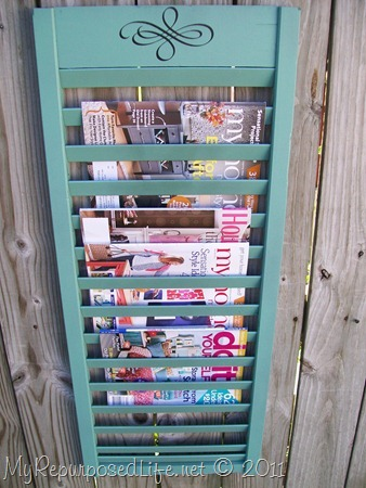 This is the magazine rack I made.
