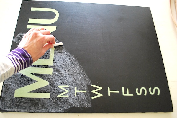 In order to look and work like a chalkboard, you'll need to condition the surface by rubbing the side of a piece of chalk over the whole thing and then rubbing with a soft cloth.
