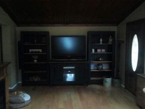 restyled entertainment center, home decor, painted furniture, shelving ideas, Before