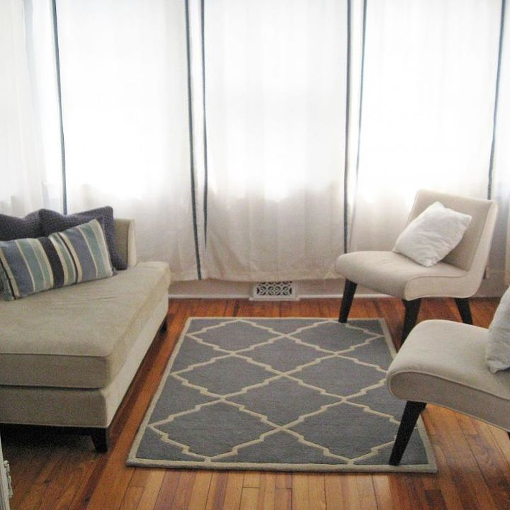 Previous curtains in the sunroom.