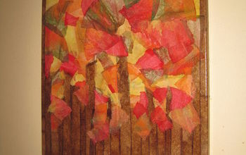 fall foliage with recycled coffee filters, home decor