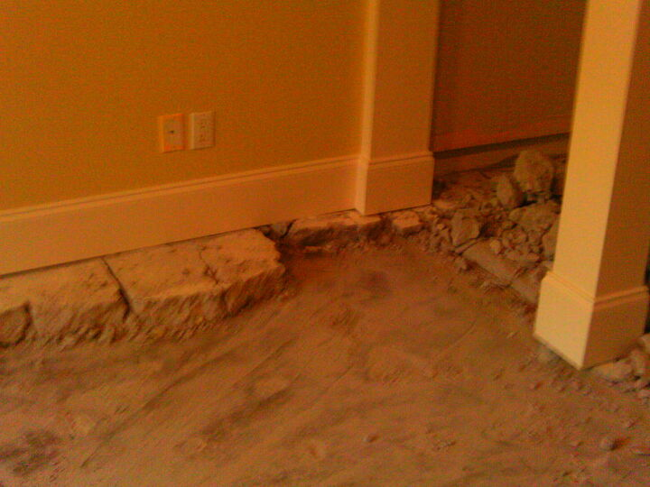 basement update floor glossed and trimmed note checker board pattern of 5x5 nordic, basement ideas, flooring