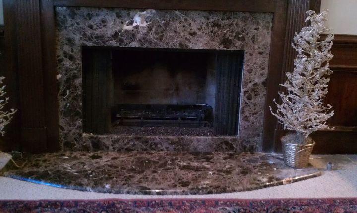 Dark Emperador -Fireplace surround - Demi bulnose edge profile