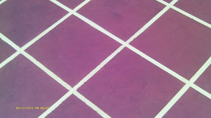 faux tile effects by tim hudson of hudson designs under contract by amazing, flooring, tile flooring, tiling