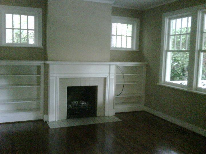 BEFORE - Empty, dark Living Room