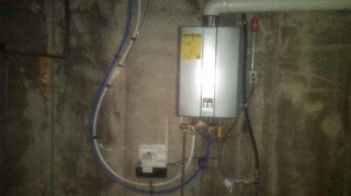 q does anyone have experience with hybrid tankless water heaters gathering info, go green, plumbing