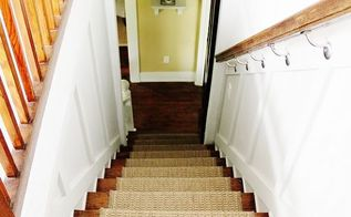 adding an indoor outdoor runner to stairs, flooring, home decor, stairs, Runner on stairs