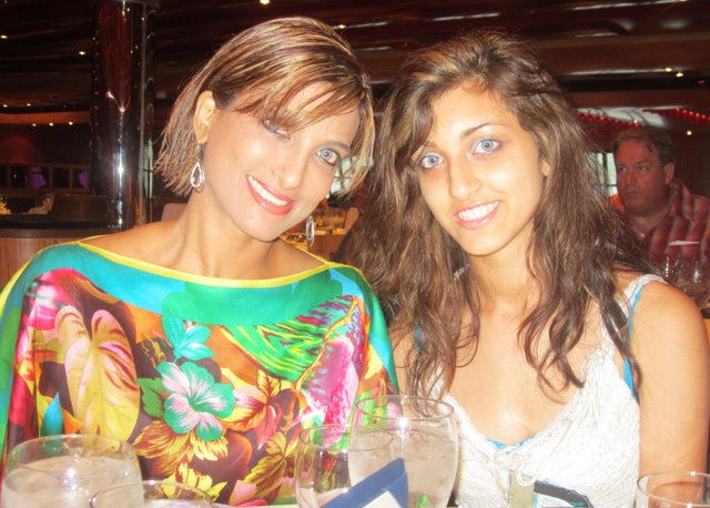 Nalini and Ariana on summer cruise