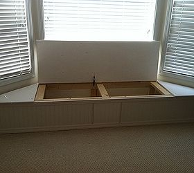 Bay Window Flip Top Storage Bench, Storage Ideas, Woodworking Projects,  Piano Hinge Lid