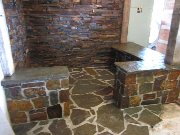Rustic Stone Shower Hometalk