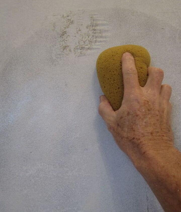 Lastly, with a nice sponge and a big bucket of hot water go over the walls two or three times until your water is staying clean.