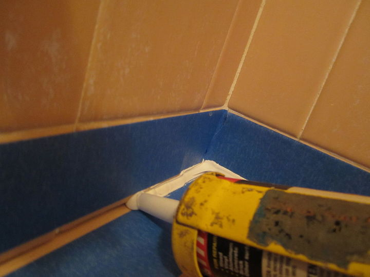 what to do about that leaky shower and tub caulking once and for all best charles, home maintenance repairs, how to, Fill the gap with sealant pushing sealant ahead of the nozzle The little bulge of sealant in front of the nozzle is the only way you will know that the gap is filled