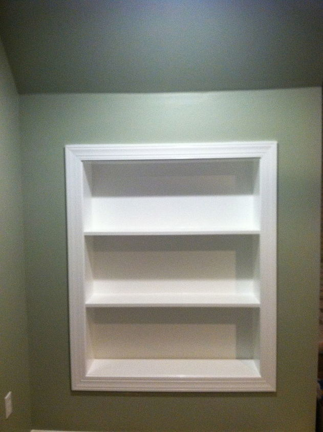 "Built in book case made from 3/4"" mdf"