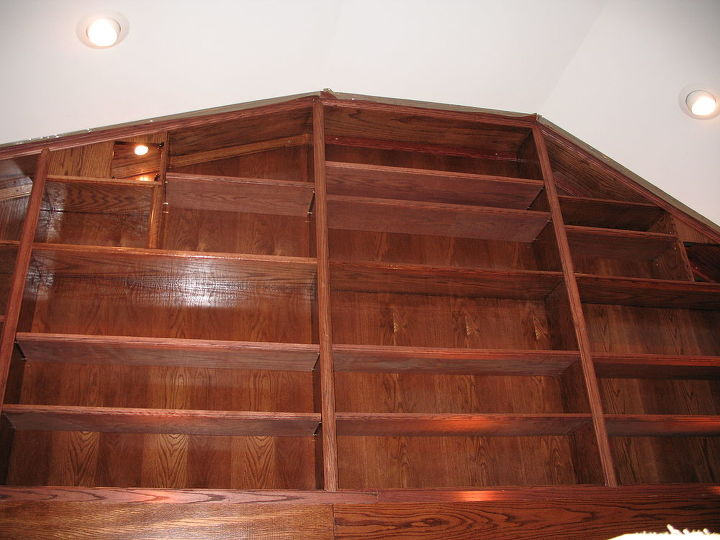 a large oak built in unit that i did, painted furniture, woodworking projects