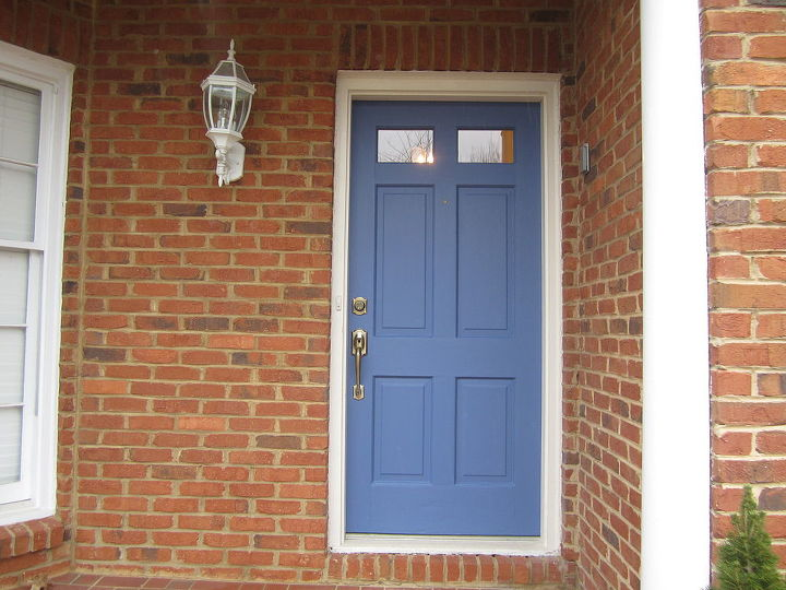 front door color pretty in blue, curb appeal, doors, painting, Wish I had taken a before of the ol tired red