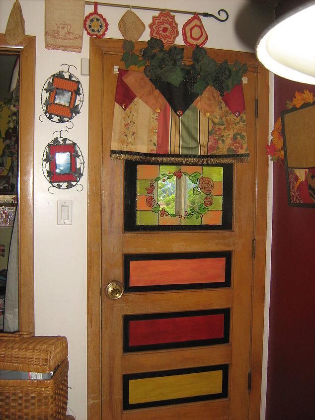 my back door, doors, foyer, painting